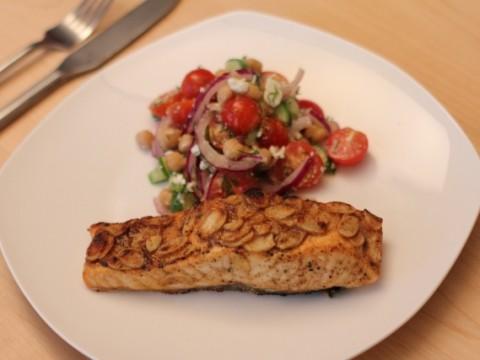Maple-Mustard Glazed Salmon