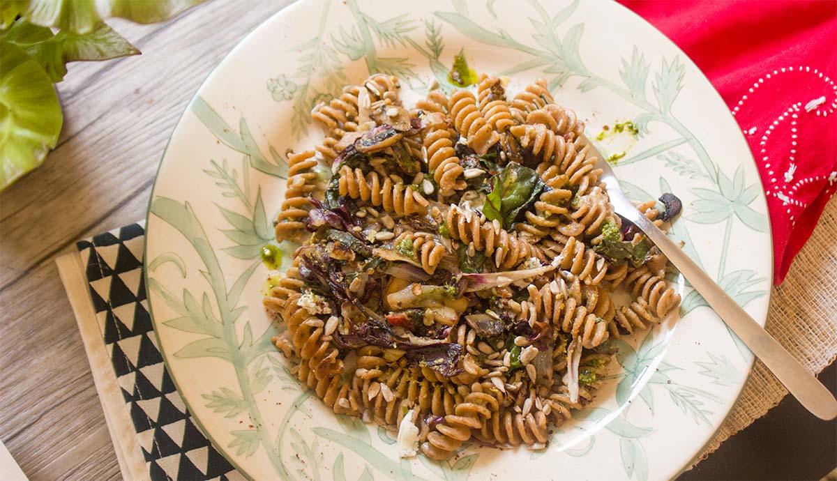 radicchio pasta - wide