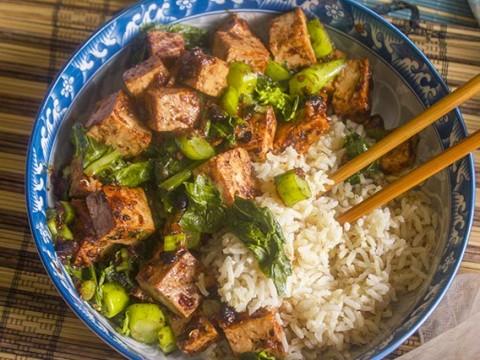 Szchaun Black Bean Tofu
