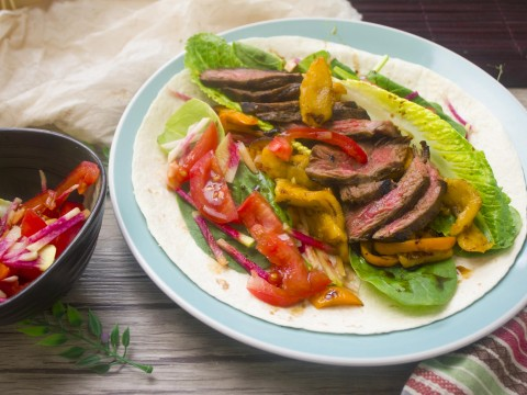 Coffee-Balsamic Steak Tacos
