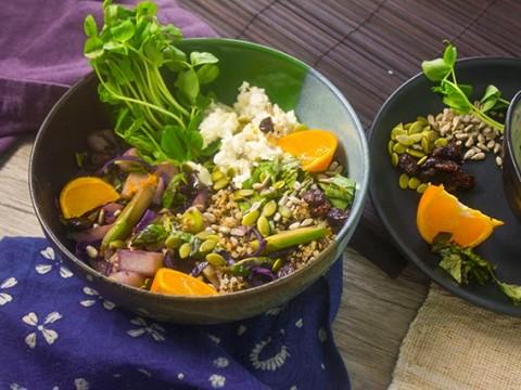 Tangerine-Basil Quinoa Bowl