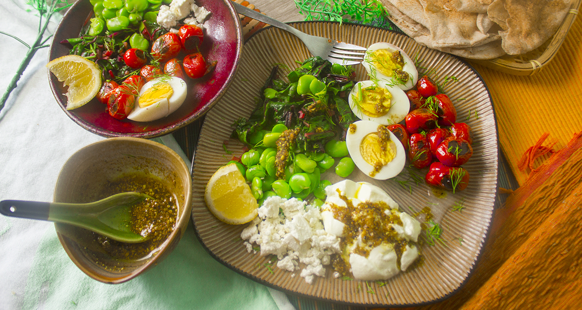 egyptian feast - wide