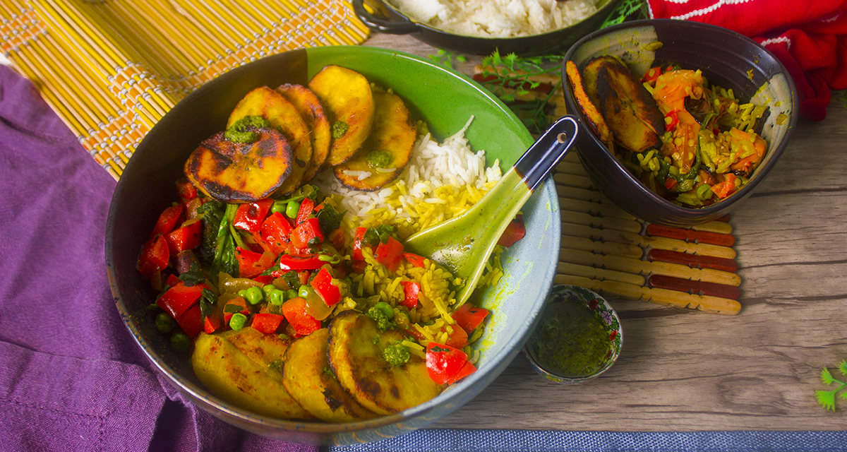 plantain curry - wide