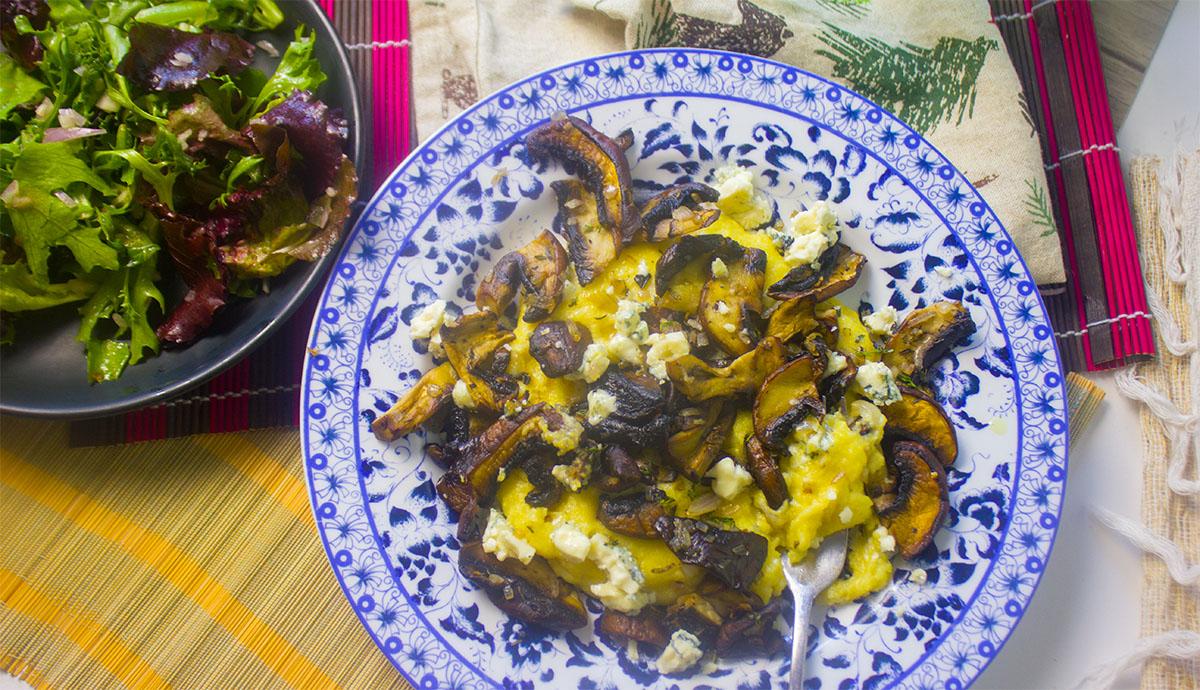 mushroom polenta - wide