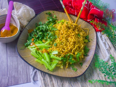 Nutty Szechuan Egg Noodles