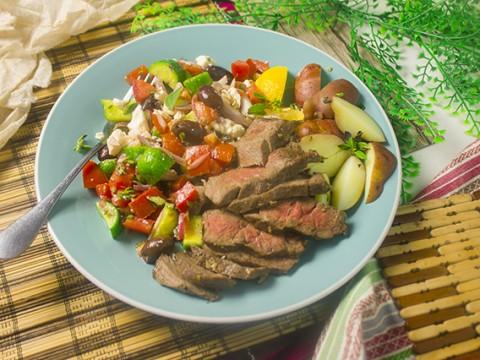 Garlic-Seared Bavette Steak
