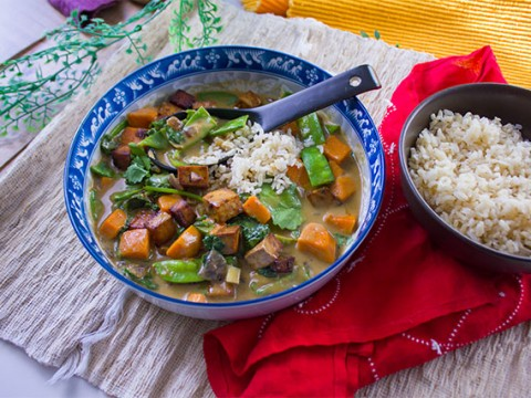 Vegetable Coconut Green Curry